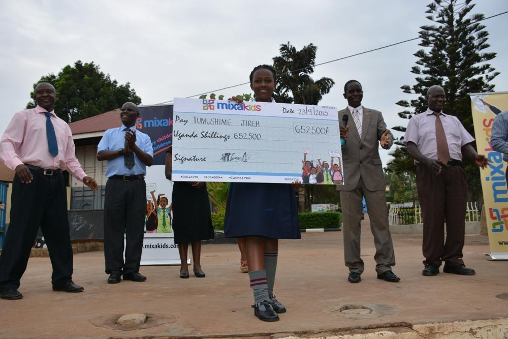 Grand Prize Winner receives School Fees from MixaKids